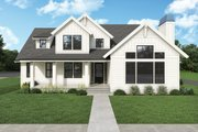 Farmhouse Style House Plan - 5 Beds 4.5 Baths 3567 Sq/Ft Plan #1070-132 Exterior - Other Elevation