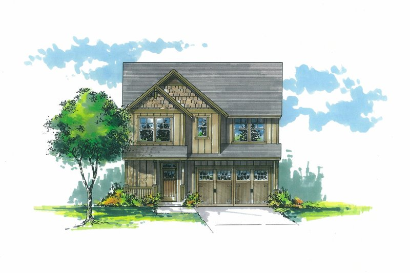Craftsman Exterior - Front Elevation Plan #53-585
