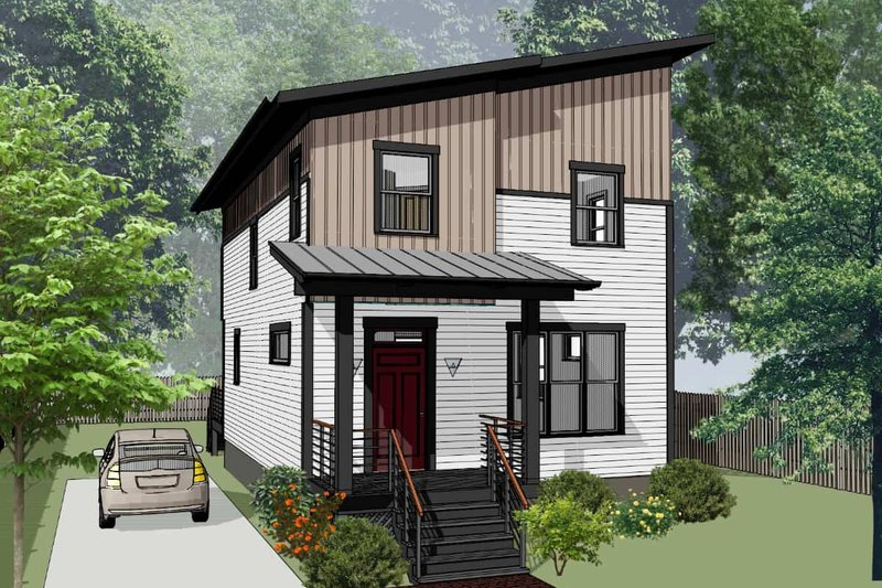 House Blueprint - Modern Exterior - Front Elevation Plan #79-321