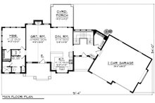 Ranch Floor Plan - Main Floor Plan Plan #70-1173