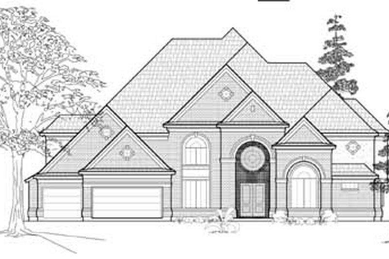 Traditional Exterior - Front Elevation Plan #61-183