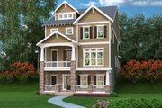 Craftsman Style House Plan - 3 Beds 4 Baths 3391 Sq/Ft Plan #419-276 Exterior - Front Elevation