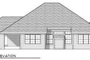 Country Style House Plan - 3 Beds 2 Baths 1904 Sq/Ft Plan #70-670 Exterior - Rear Elevation