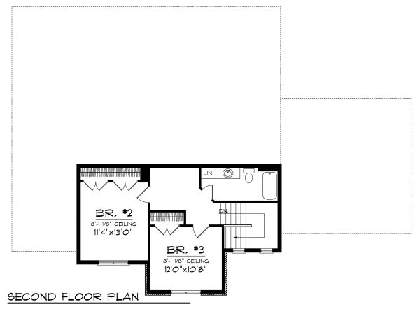 Tudor Floor Plan - Upper Floor Plan Plan #70-1139