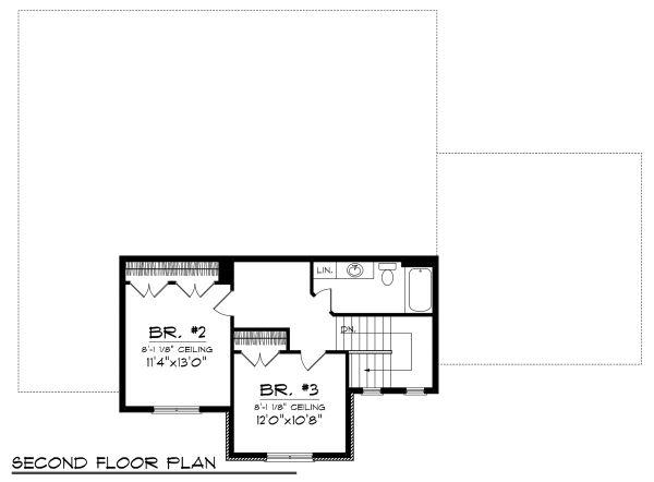 Home Plan Design - Tudor Floor Plan - Upper Floor Plan #70-1139