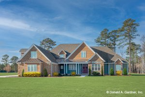 Ranch Exterior - Front Elevation Plan #929-1050