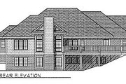 Traditional Style House Plan - 4 Beds 2.5 Baths 3228 Sq/Ft Plan #70-206 Exterior - Rear Elevation