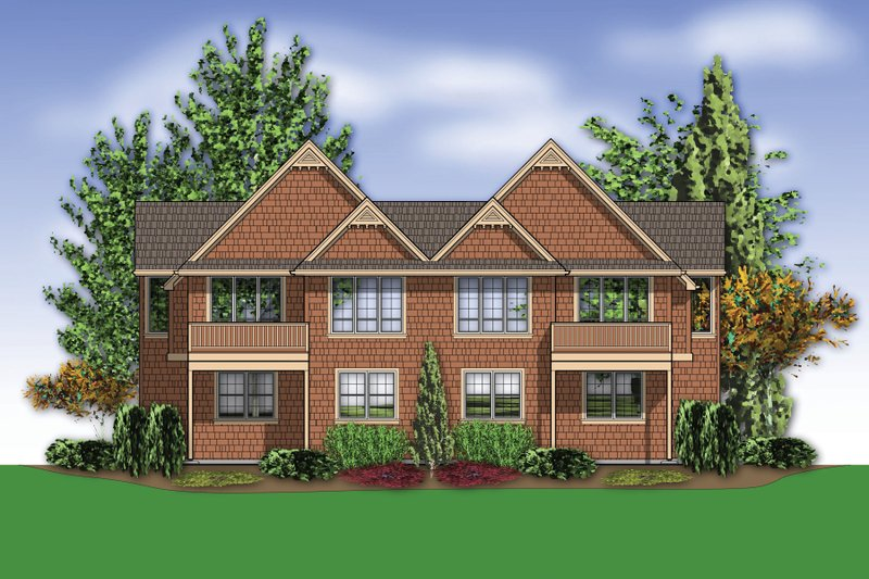 Craftsman Exterior - Rear Elevation Plan #48-627 - Houseplans.com