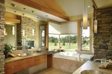 Ranch Interior - Master Bathroom Plan #48-433