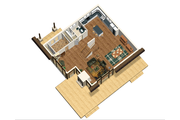 Cabin Style House Plan - 3 Beds 1 Baths 3256 Sq/Ft Plan #25-4737 Floor Plan - Main Floor Plan