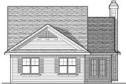 Craftsman Style House Plan - 2 Beds 2 Baths 1346 Sq/Ft Plan #70-674 Exterior - Rear Elevation