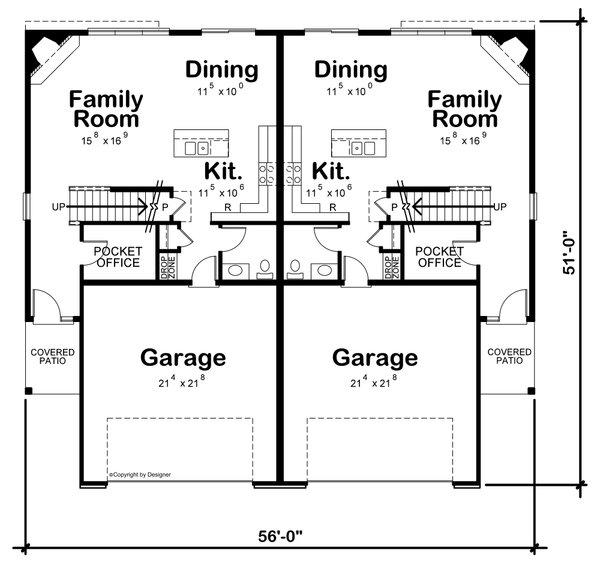 Traditional Floor Plan - Main Floor Plan #20-2466