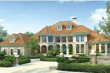 Mediterranean Exterior - Front Elevation Plan #930-42