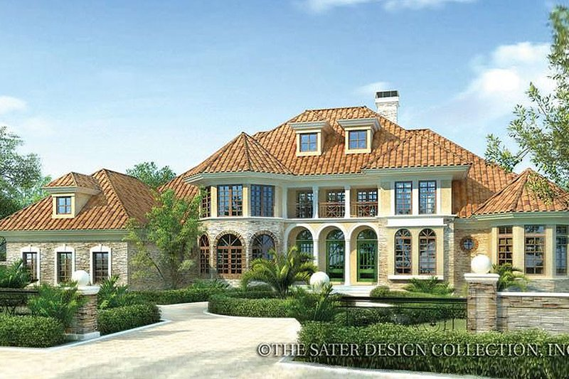 Home Plan - Mediterranean Exterior - Front Elevation Plan #930-42