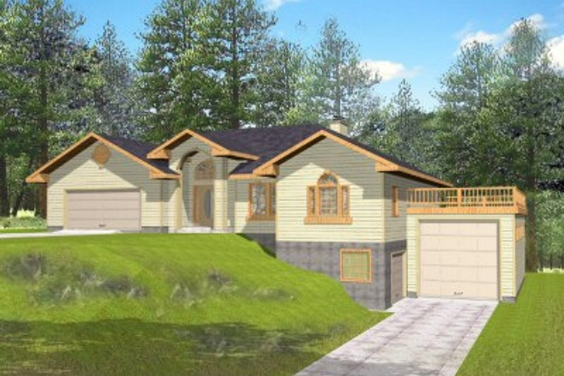 Traditional Exterior - Front Elevation Plan #117-144 - Houseplans.com