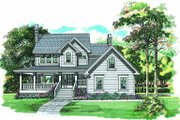 Traditional Style House Plan - 3 Beds 2.5 Baths 1924 Sq/Ft Plan #47-386 Exterior - Front Elevation