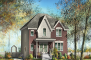 European Style House Plan - 3 Beds 1 Baths 1367 Sq/Ft Plan #25-4711 Exterior - Front Elevation