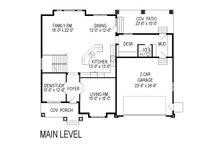 Craftsman Floor Plan - Main Floor Plan Plan #920-75