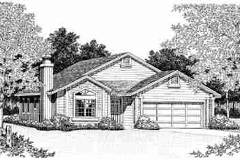 Traditional Exterior - Front Elevation Plan #72-325 - Houseplans.com