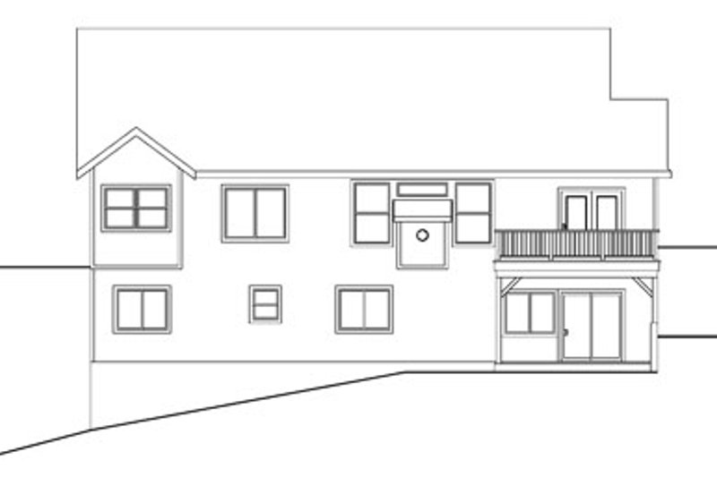 Exterior - Rear Elevation Plan #124-756 - Houseplans.com