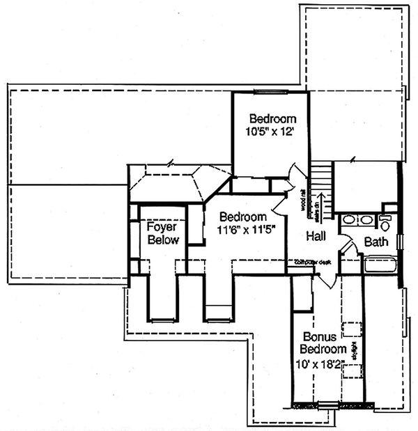 Traditional Floor Plan - Upper Floor Plan Plan #46-185