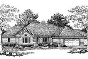Ranch Exterior - Front Elevation Plan #70-351