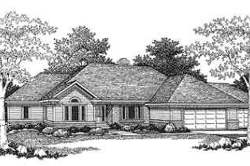 Dream House Plan - Ranch Exterior - Front Elevation Plan #70-351