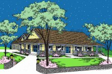 Ranch Exterior - Front Elevation Plan #60-102