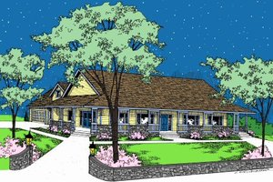 Dream House Plan - Ranch Exterior - Front Elevation Plan #60-102