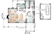 Traditional Style House Plan - 4 Beds 2 Baths 2393 Sq/Ft Plan #23-2173 Floor Plan - Main Floor