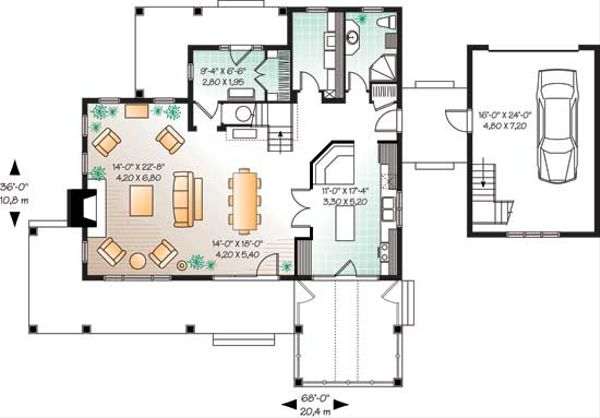 Traditional Floor Plan - Main Floor Plan Plan #23-2173