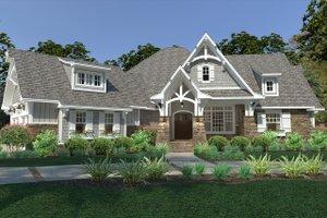 Cottage Exterior - Front Elevation Plan #120-252