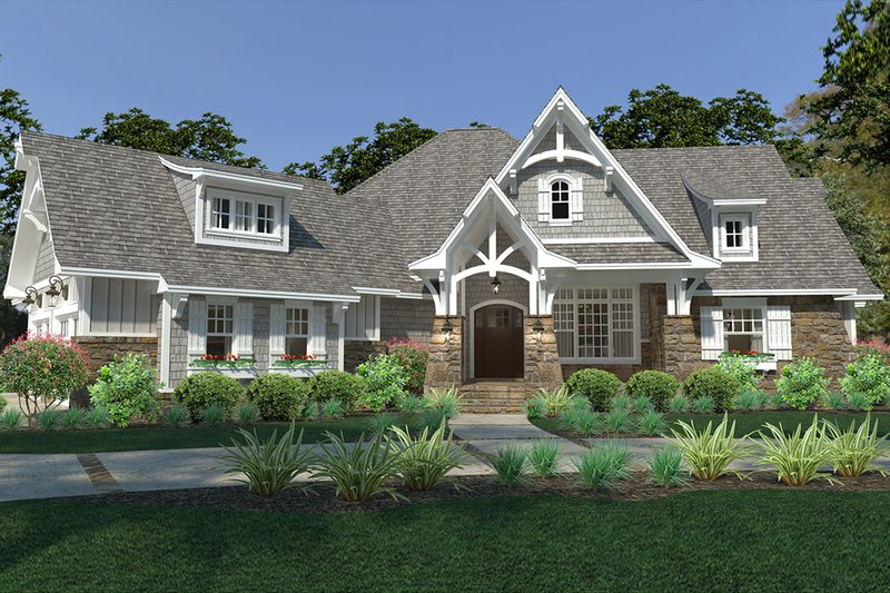 Cottage Exterior - Front Elevation Plan #120-252