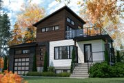 Modern Style House Plan - 2 Beds 2 Baths 1188 Sq/Ft Plan #23-2719 Exterior - Front Elevation
