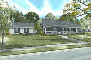 Ranch Exterior - Front Elevation Plan #17-2142