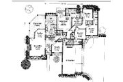 Colonial Style House Plan - 4 Beds 3.5 Baths 2570 Sq/Ft Plan #310-725 Floor Plan - Main Floor