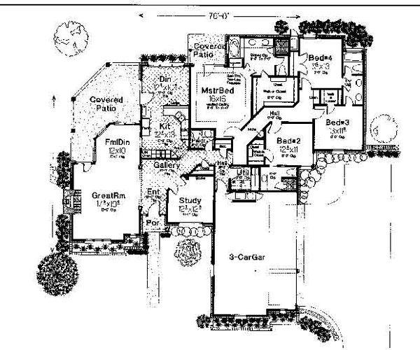 Colonial Floor Plan - Main Floor Plan #310-725
