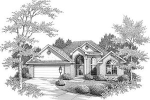 European Exterior - Front Elevation Plan #14-235