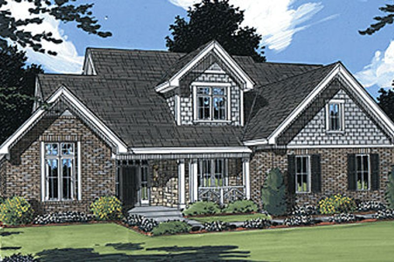 European Exterior - Front Elevation Plan #46-133 - Houseplans.com