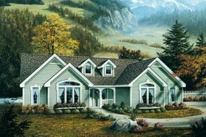 Dream House Plan - Traditional Exterior - Front Elevation Plan #57-184
