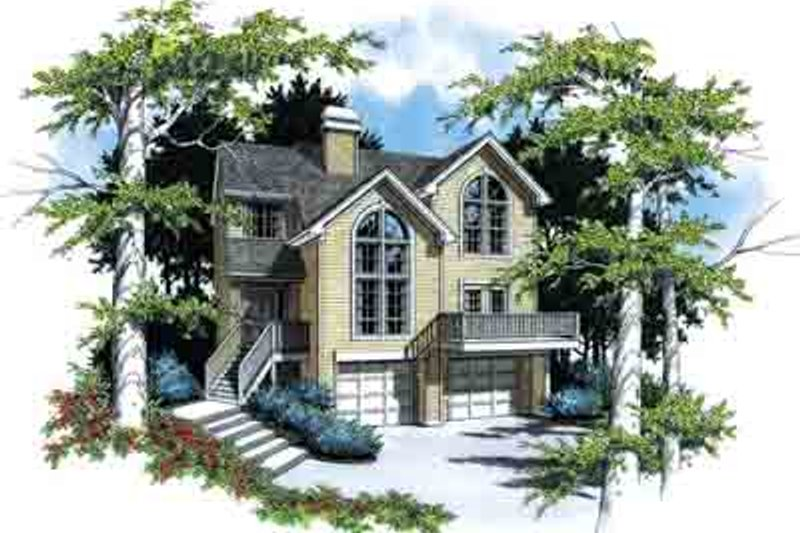 Traditional Exterior - Front Elevation Plan #48-198