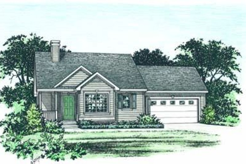 Architectural House Design - Traditional Exterior - Front Elevation Plan #20-1322