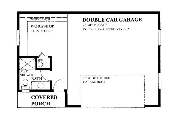 Farmhouse Floor Plan - Main Floor Plan #118-136