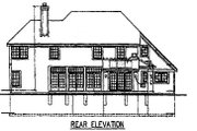 Traditional Style House Plan - 5 Beds 3.5 Baths 3469 Sq/Ft Plan #50-146 Exterior - Rear Elevation