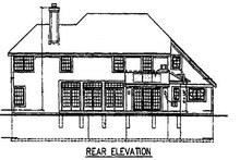 Home Plan - Traditional Exterior - Rear Elevation Plan #50-146