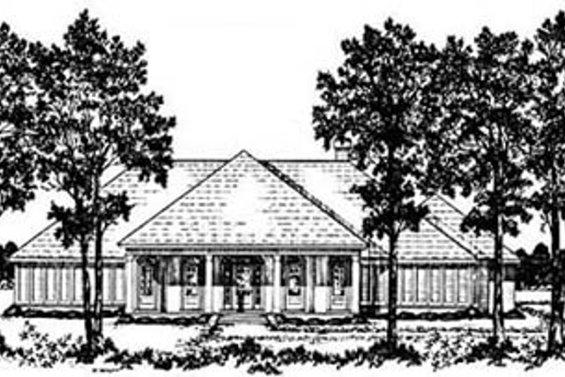 Architectural House Design - Southern Exterior - Front Elevation Plan #36-203