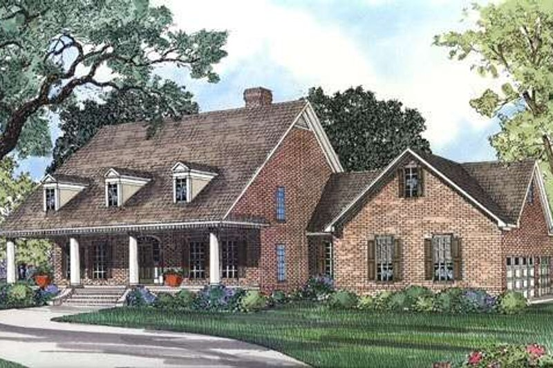 Dream House Plan - Southern Exterior - Front Elevation Plan #17-299