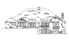House Plan Design - Bungalow Exterior - Rear Elevation Plan #5-327
