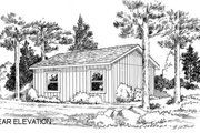 Cottage Style House Plan - 2 Beds 1 Baths 576 Sq/Ft Plan #312-358 Exterior - Rear Elevation