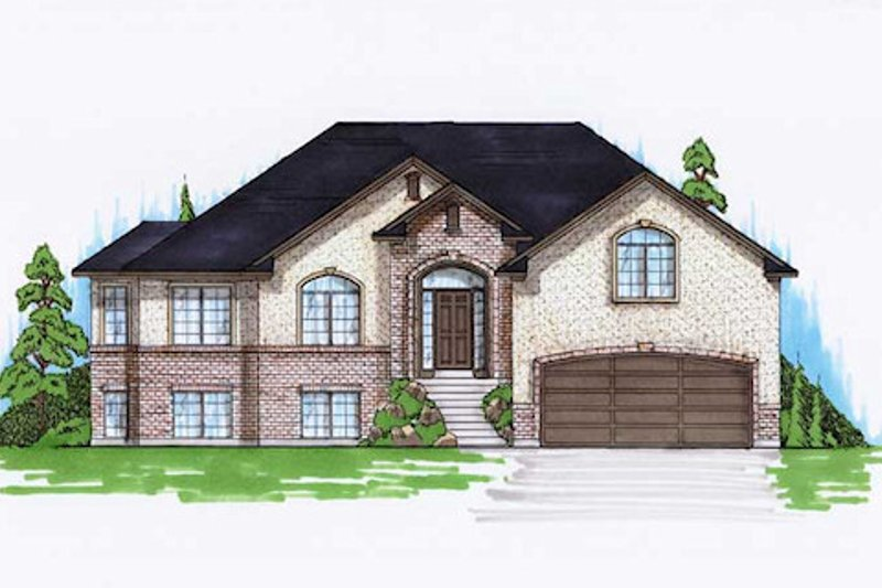 Traditional Style House Plan - 6 Beds 3.5 Baths 2147 Sq/Ft Plan #5-252 Exterior - Front Elevation
